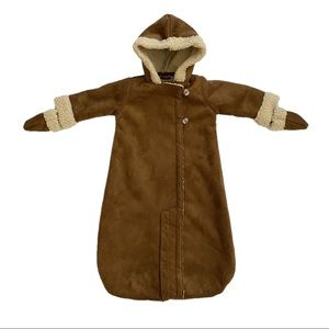 BABY GAP Faux Suede Sherpa Bunting Snow Suit 6-12m